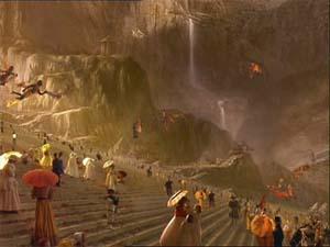 """Возможно так будет выглядеть идеальный мир (кадр из фильма """"Куда приводят мечты"""")"""