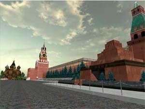 Вид на Красную площадь в Virtual City Project
