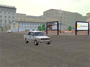 Автомобиль ВАЗ-2101 на улицах виртуального города